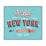 Vintage Greeting Card From New York - Usa