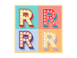 Simple And Clear Flat Lamp Alphabet - Letter R