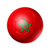 Soccer Football Ball With Morocco Flag