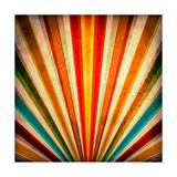 Multicolor Sunbeams Grunge Background A Vintage Poster