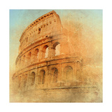 Great Antique Rome - Coloseum   Artwork In Retro Style
