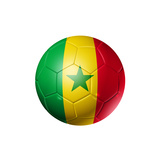 Soccer Football Ball With Senegal Flag