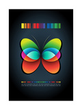 Abstract Butterfly Poster Template