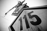 Speed Limit Railway Signpost