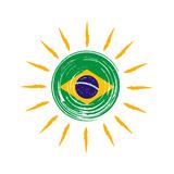 Brazilian Flag In Sun