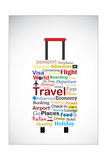 The Universal Travel Bag Concept Illustration Using The Most Used Travel Terminologies In The Shape