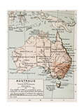 Australia Old Map By Paul Vidal De Lablache  Atlas Classique  Librerie Colin  Paris  1894