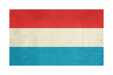 Grunge Sovereign State Flag Of Country Of Luxembourg In Official Colors
