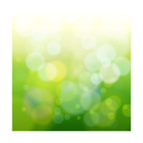 Green Bokeh Abstract Light Reproduction d'art par -Vladimir-