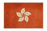 Grunge Sovereign State Flag Of Dependent Country Of Hong Kong In Official Colors