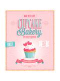 Vintage Cupcake Poster