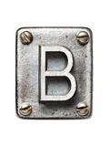 Old Metal Alphabet Letter B
