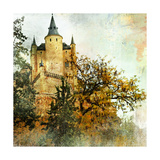 Medieval Castle Alcazar  Segovia Spain- Picture In Painting Style
