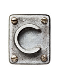 Old Metal Alphabet Letter C