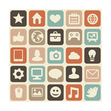 Pattern With Social Media Icons