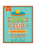 Vintage Mexican Food Poster
