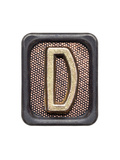 Metal Button Alphabet Letter D