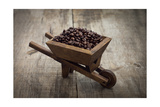 Coffee Beans In A Wheelbarrow