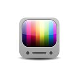 Rainbow Colored Tv Set Reproduction d'art par YasnaTen