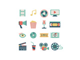 Set Of Flat Movie Design Elements