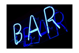 Abstract Neon Sign Bar