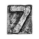 Metal Alloy Alphabet Number 7