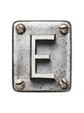 Old Metal Alphabet Letter E