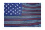 Usa Flag Of Binary Code