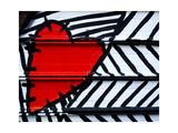 Heart Painted On Metal