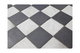 Black And White Tiled Floor