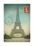 Vintage Romantic Paris Postcard