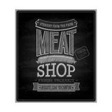 Meat Shop - Chalkboard