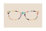 Vintage Hipsters Icons Glasses