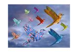 Origami Bird Dreamscape