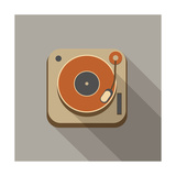 Retro Record Player Icons Reproduction d'art par YasnaTen