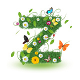 """Beautiful Spring Letter """"Z"""""""