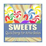 Sweets Vintage Grunge Poster