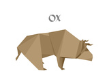 Illustration Of An Origami Ox