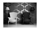 White And Black Armchairs