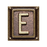 Metal Button Alphabet Letter E