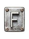 Old Metal Alphabet Letter F