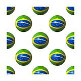 Seamless Brazilian Flag Spheres