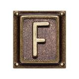 Metal Button Alphabet Letter F