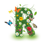 """Beautiful Spring Letter """"R"""""""