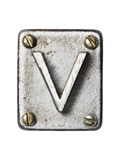 Old Metal Alphabet Letter V