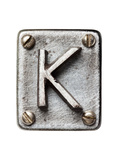 Old Metal Alphabet Letter K Reproduction d'art par Donatas1205