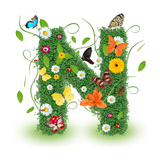 "Beautiful Spring Letter ""N"""