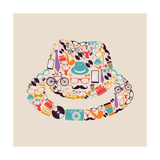 Vintage Hipsters Icons Hat