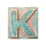 Wooden Alphabet Block  Letter K
