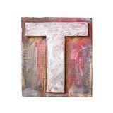 Wooden Alphabet Block  Letter T